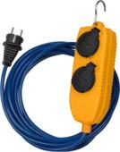 Brennenstuhl stekkerdoos voor werf 4-voudig 5 m IP54 blauw