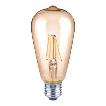Sylvania ToLEDo LED filament kaarslamp met tip E27 560 lumen 5,5 W = 50 W dimbaar goud