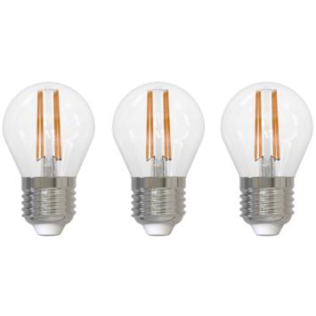 Handson LED filament peerlamp E27 4W 470 lm 3-pack