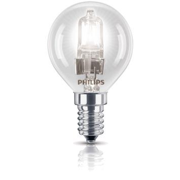 Ampoule globe Philips Eco Halo E14 370 Lm 28W = 35W