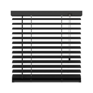 GAMMA horizontale jaloezie aluminium 50 mm 320 mat zwart 140X180 cm