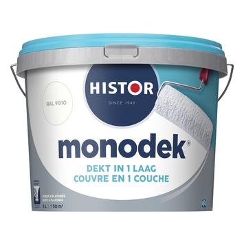 Histor monodek muur- en plafondverf 5 L RAL 9010 gebroken wit