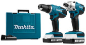 Makita combopack accuschroefboormachine & accuslagschroevendraaier 18 V DF457D+TD127D (Incl. 2x 1,5 Ah Accu)