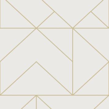 Vliesbehang Geo gold 111533