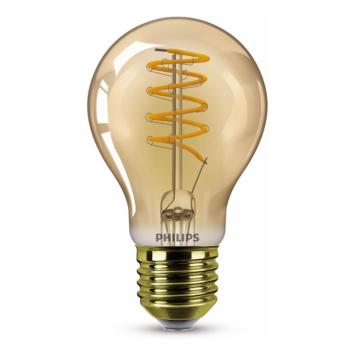 Philips LED peer E27 25W filament goud spiraal dimbaar