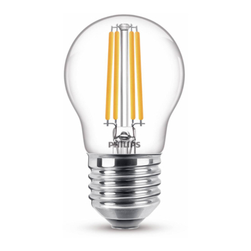 Philips LED kogel E27 60W filament helder niet dimbaar