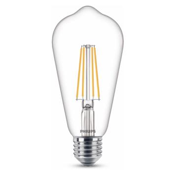 Philips LED edison E27 60W filament helder niet dimbaar