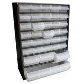 Armoire à 34 tiroirs Raaco métal noir