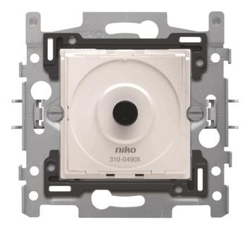 Socle pour variateur LED à bouton rotatif Niko 4-200 W 2 fils