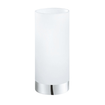 Lampe de table Eglo Damasco 1 E27 60 W blanc inox