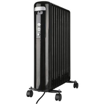 Oliegevulde radiator 2500 W zwart