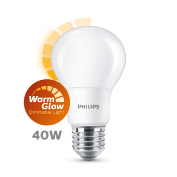 Philips LED peer E27 40W mat warmglow dimbaar