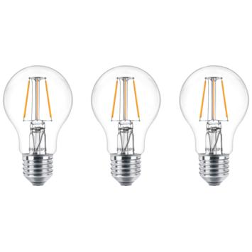 Philips LED peer E27 40W 3 stuks filament helder niet dimbaar