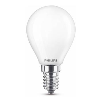 Philips LED kogel E14 60W wit mat niet dimbaar
