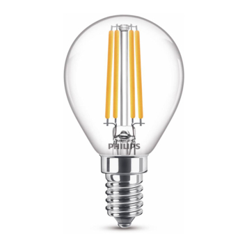 Philips LED kogel E14 60W filament helder niet dimbaar