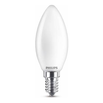 Philips LED kaars E14 60W wit mat niet dimbaar