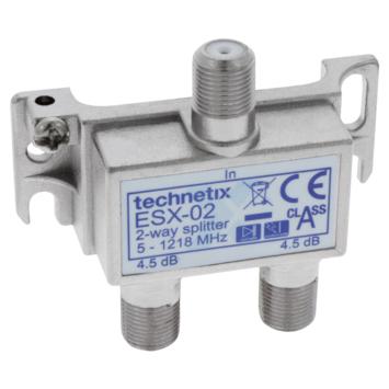 Q-link Premium coax splitter voor F-connector metaal