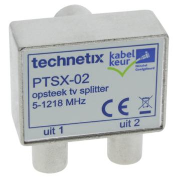 Q-link Premium coax splitter voor tv metaal