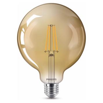 Philips LED globe E27 50W filament goud dimbaar
