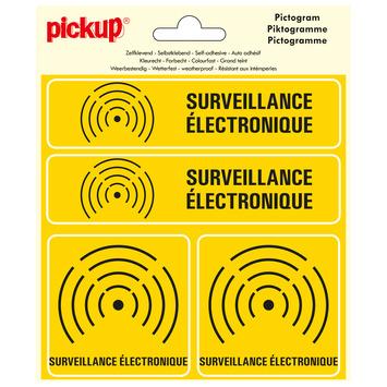 Pickup pictogram 15x15 cm surveillance electronique 4 stuks