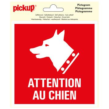 Pickup pictogram 15x15 cm attention au chien