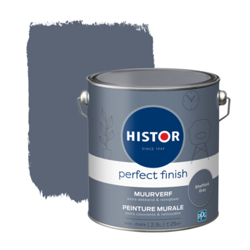 Histor Perfect Finish muurverf mat Sheffield Grey 2,5 liter