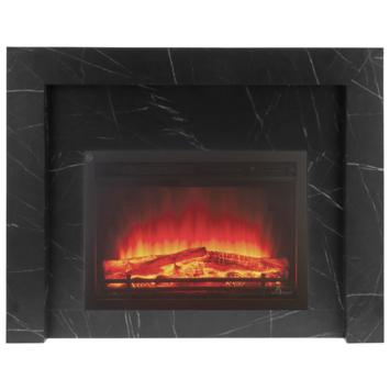 Livin' Flame schouwombouw Bregenz zwart marmer