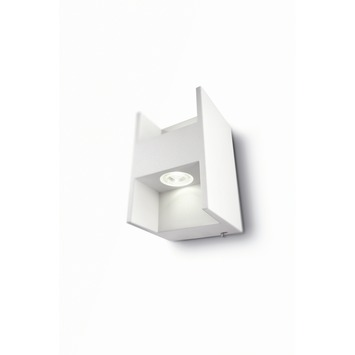 Philips Lediono Metric wandlamp met LED wit