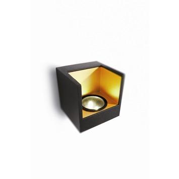 Philips Lediono Mathea wandlamp met LED vierkant zwart