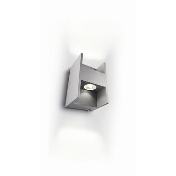 Applique led Metric Philips Ledino carré gris