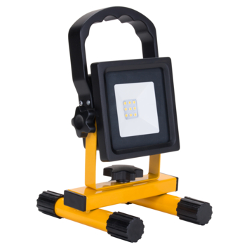 Handson bouwlamp 10W met oplaadbare accu geel