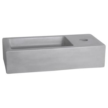 Differnz Ravo handenwasser 38,5x18,5x9 cm licht beton