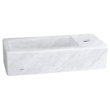Differnz Helios handenwasser 37,5x18,5x9,5 cm marmer