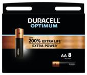 Duracell Optimum alkalinebatterij AA 8 stuks