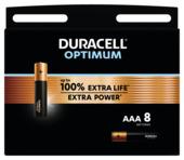 Duracell Optimum alkalinebatterij AAA 8 stuks