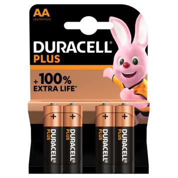 Pile alcaline Duracell Plus AA 4 pièces