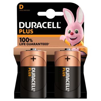 Duracell Plus alkalinebatterij D 2 stuks