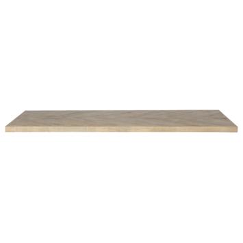 Tablo tafelblad mangohout visgraat 180x90 cm