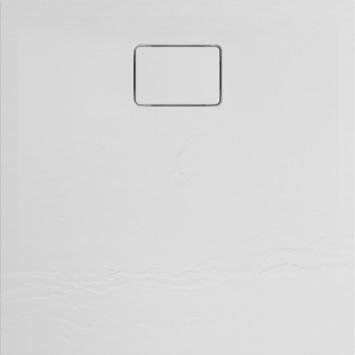 Allibert Terreno douchebak 80x80 cm Kwartz wit