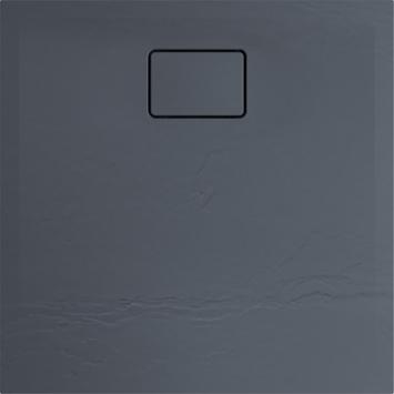 Allibert Terreno douchebak 80x80cm Vuursteengrijs