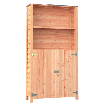 Tuinkast met deur Douglas hout ± 187x35x98