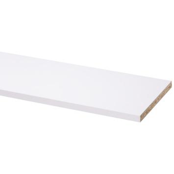 Panneau de meuble pefc avec couvre-chant sur 2 longs côtés 18 mm 250x20 cm blanc