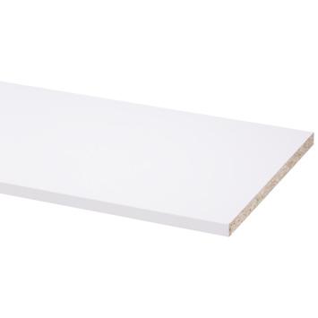 Panneau de meuble pefc avec couvre-chant sur 2 longs côtés 18 mm 250x30 cm blanc