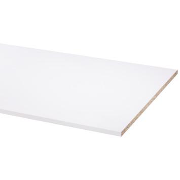 Panneau de meuble pefc avec couvre-chant sur 2 longs côtés 18 mm 250x60 cm blanc