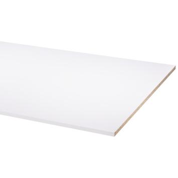 Panneau de meuble pefc avec couvre-chant sur 2 longs côtés 18 mm 250x80 cm blanc