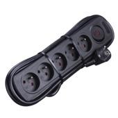 Bloc multiprises 5 prises avec interrupteur Handson noir 3 m