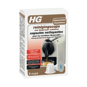 HG reinigingscups voor Nespresso machines 6 stuks