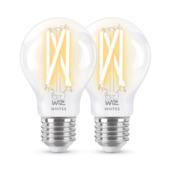 WiZ Connected LED ampoule filament E27 60W 2 pièces dimmable blanc froid-blanc chaud