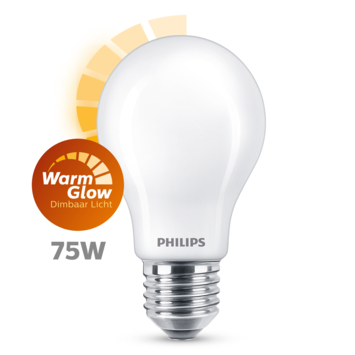 Philips LED peer E27 75W mat warmglow dimbaar