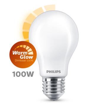 Philips LED peer E27 100W mat warmglow dimbaar